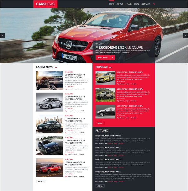 Cars News Automotive Joomla Template $75