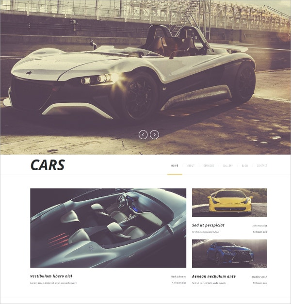 automobiles cars automative joomla template 75