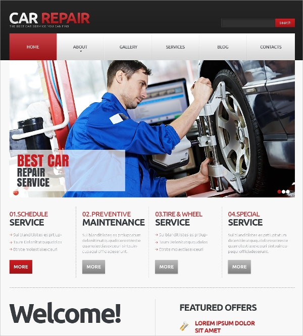 Car Repair Responsive Automative Joomla Template $75