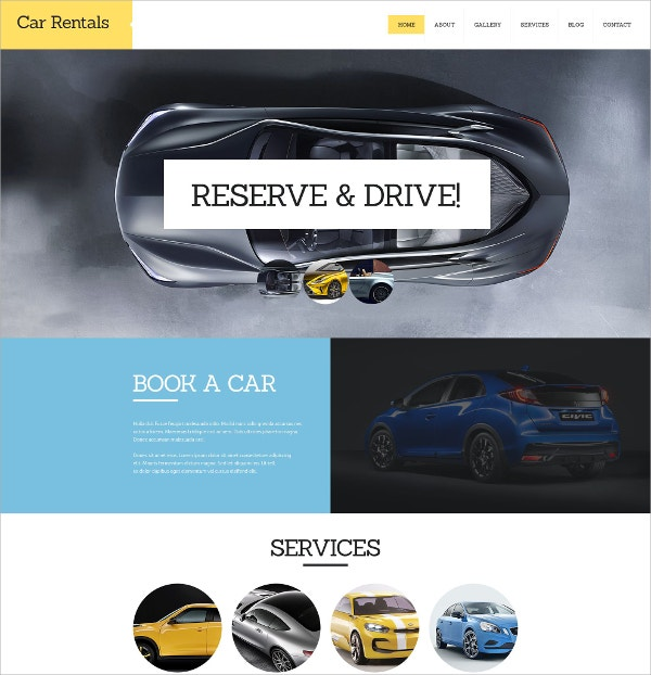 Car Rental Automative Joomla Template $75