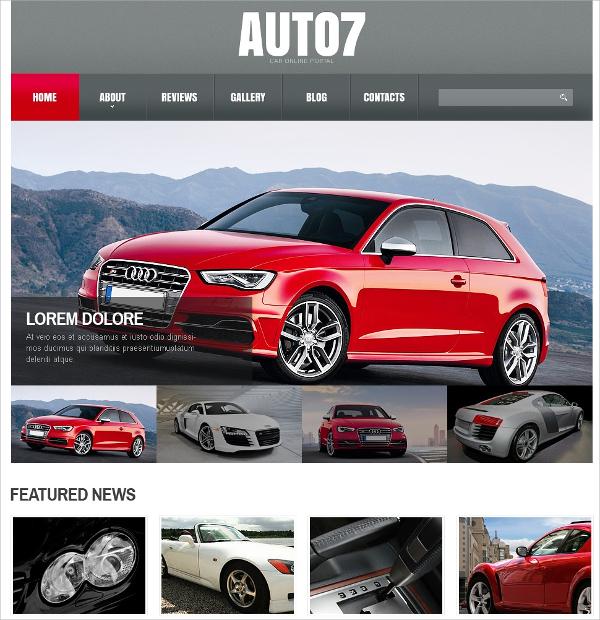 Car Online Portal Automative Joomla Template $75