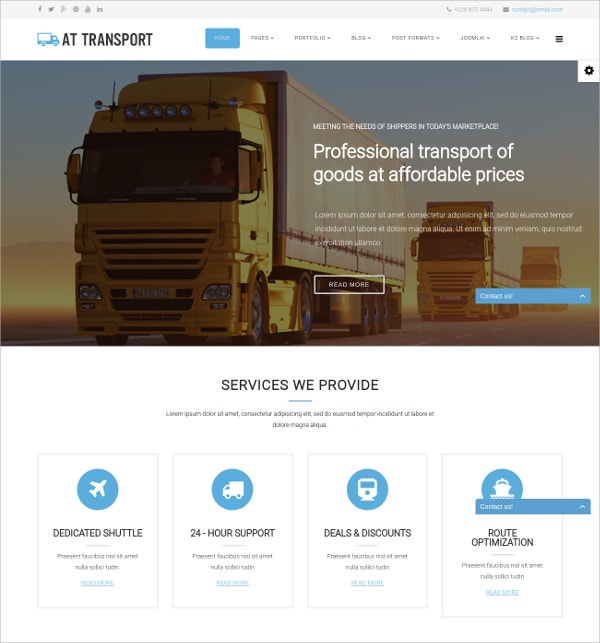 Transport Automative Joomla Template $19