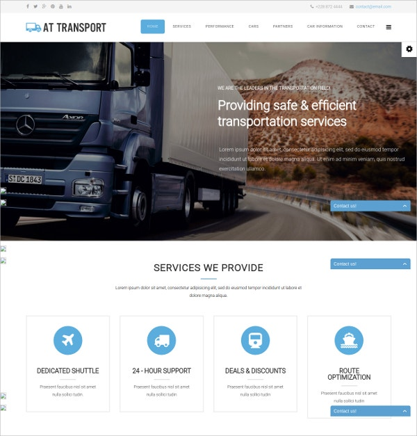 transport onepage automative joomla template 19