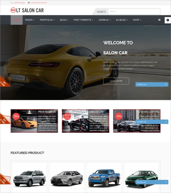 premium salon car automative joomla template