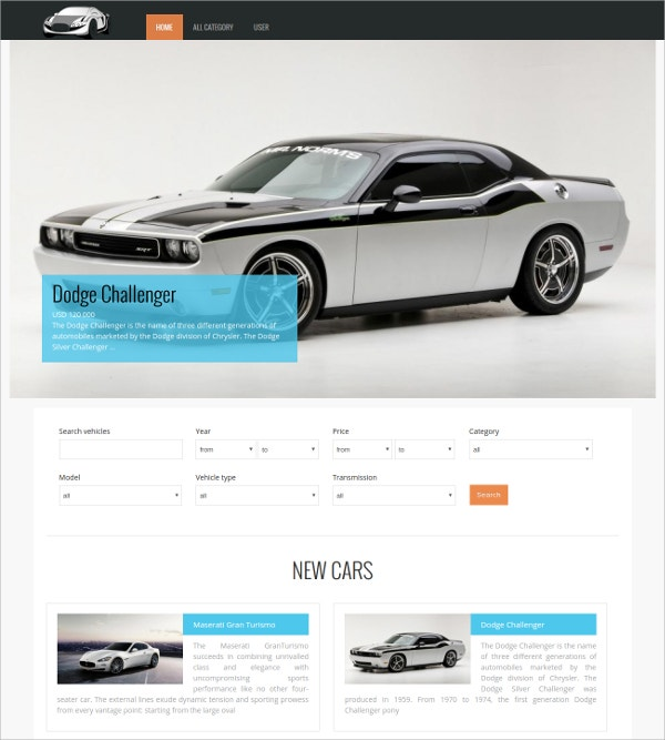 free best automative joomla template