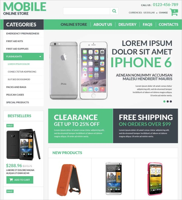 Mobile Electronics VirtueMart Template $139