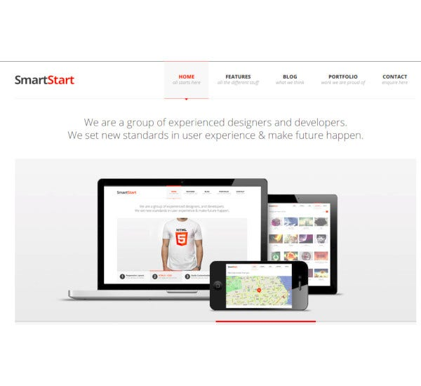 ajax php responsive html5 template