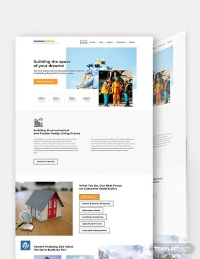 builder wordpress theme template