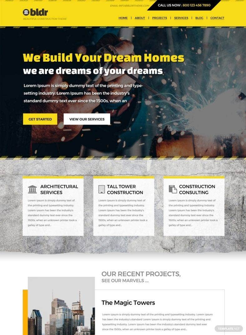 construction company html5 website 788x1075