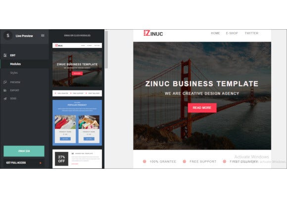 e commerce responsive email template