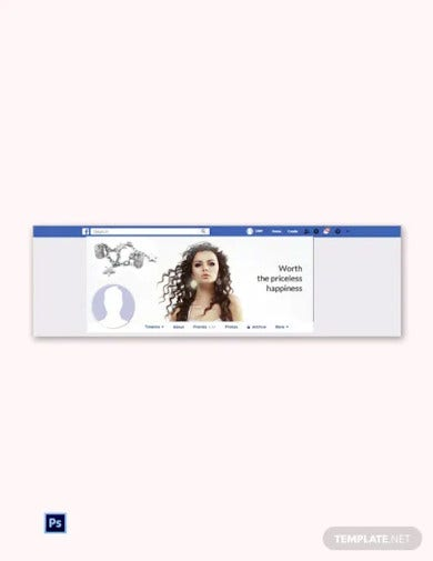 free jewelry facebook cover page template