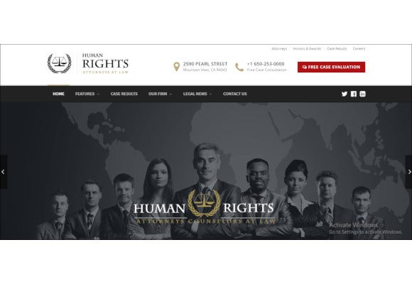 humanrights lawyer and attorney wordpress theme