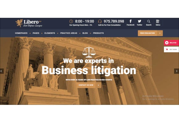 lawyer and law firm wordpress theme