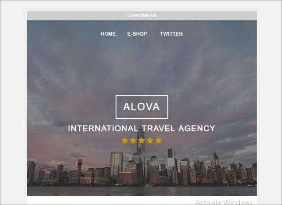 travel agency responsive email template