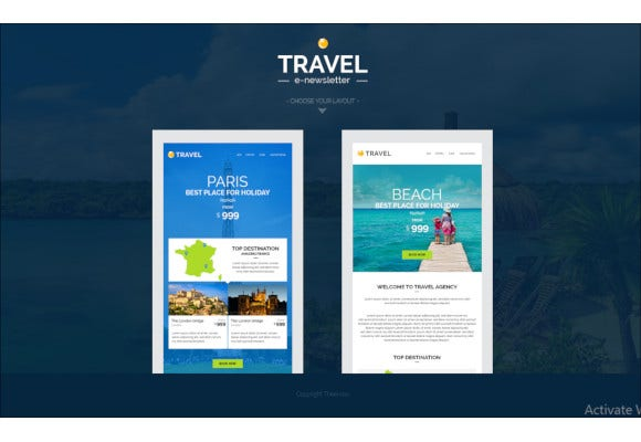 travel hotel e newsletter template
