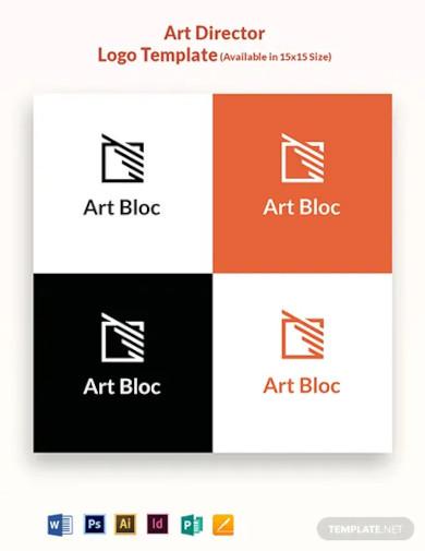 art director logo template