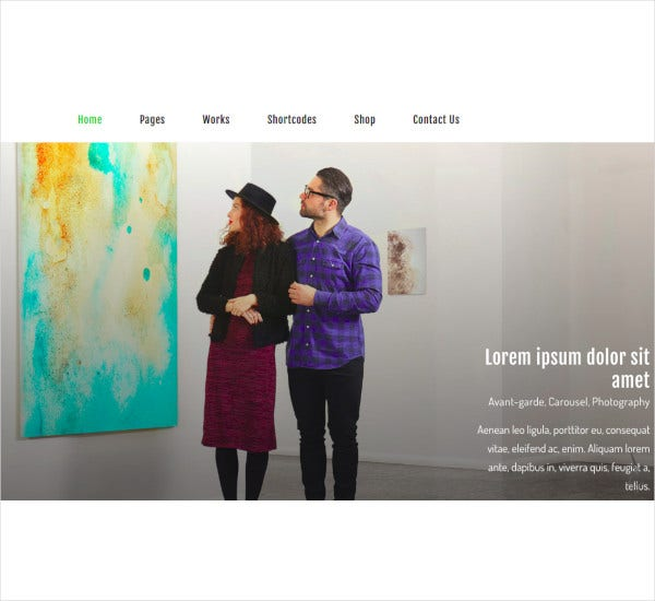 art exhibition ecommerce templates theme