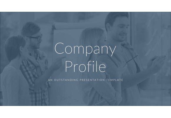 company profile pitch deck