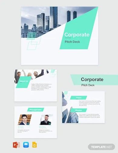 corporate pitch deck template