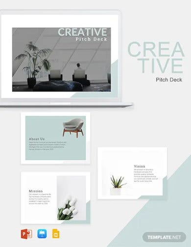 creative pitch deck template