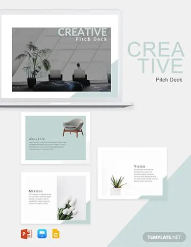 creative pitch deck template