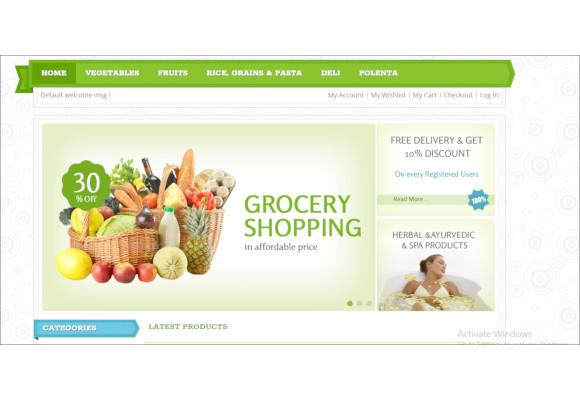 fresh market magento responsive theme
