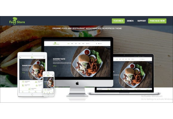organic food and restaurant woocommerce wordpress theme