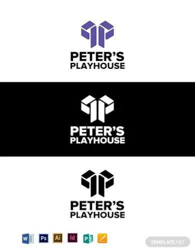 peters playhouse logo template