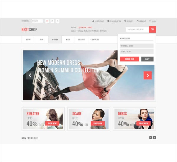retail ecommerce psd