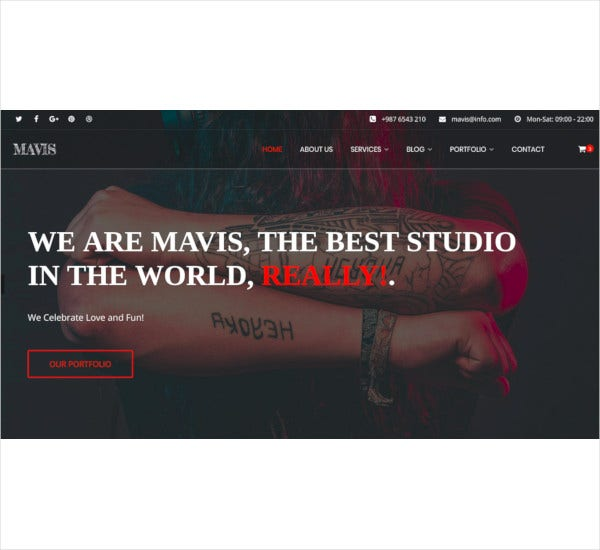 tattoo body art studio html template