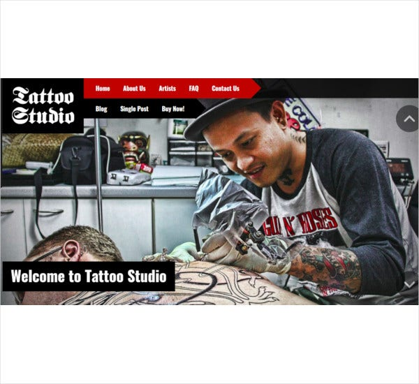 tattoo shop wordpress theme