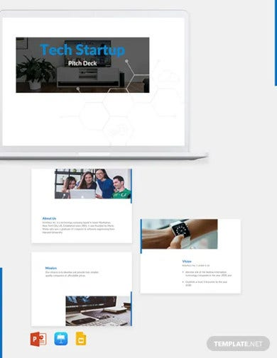 tech startup pitch deck template