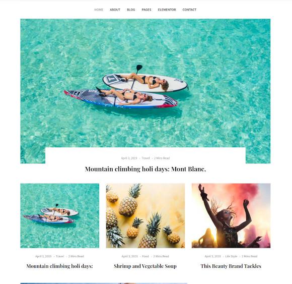 blogxer blog magazine wordpress theme