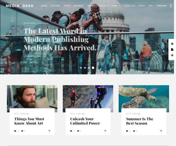 mediadesk magazine wordpress theme