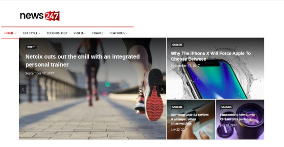 news247 magazine wordpress theme