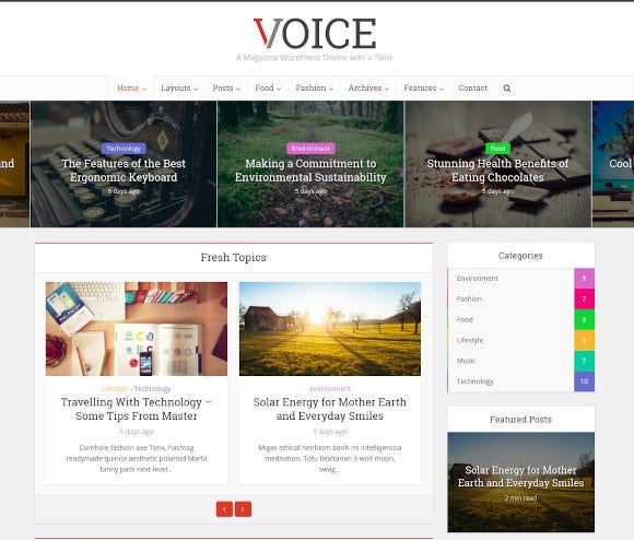 voice clean news magazine wordpress theme