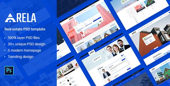 arela real estate psd template