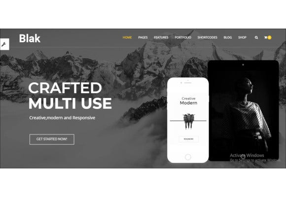 black responsive multi purpose drupal theme