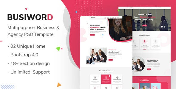 busiword multipurpose business and agency template