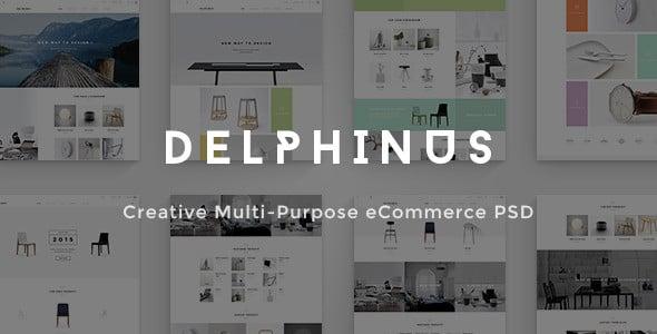 delphinus creative ecommerce psd template