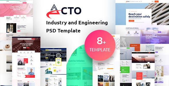 industry and engineering psd template