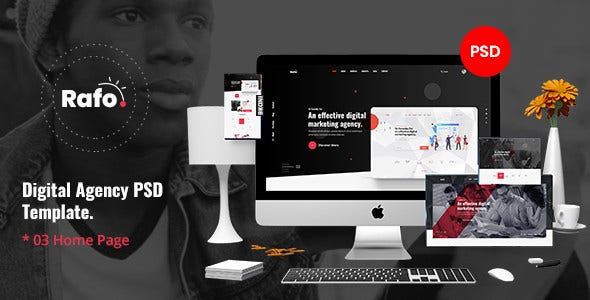 rafo digital agency psd template