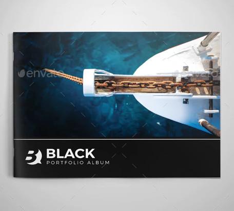 black photo album