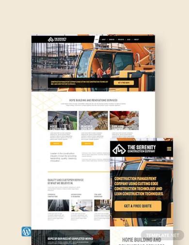 construction company wordpress theme template