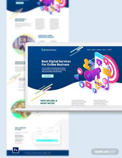 digital marketing psd landing page template