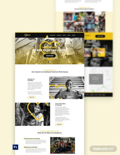 ngo psd landing page template