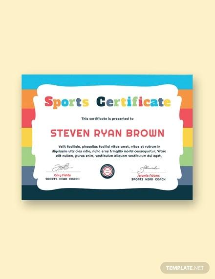 free kids sport award