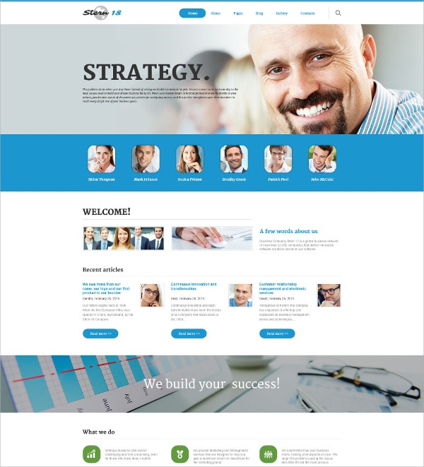Business & Corporate Responsive Joomla Template $75