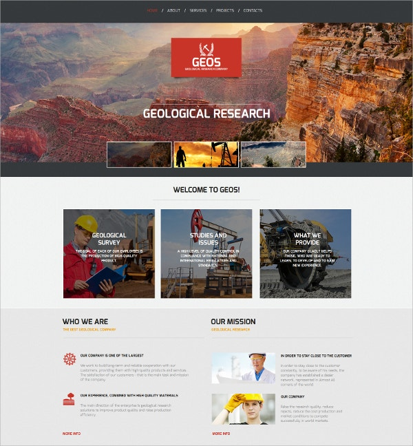Industrial Corporate HTML website Template $139