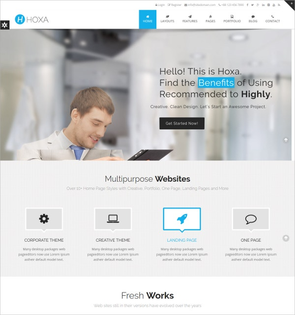 20+ Best Corporate Website Themes & Templates | Free & Premium ...
